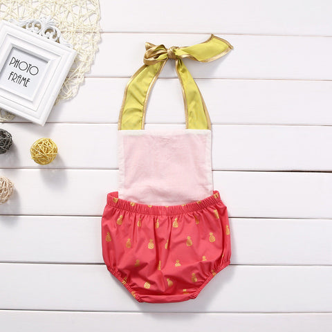Glitter Pineapple Romper - Present Baby | clothes, rompers, bibs, shoes, blankets, dresses & more