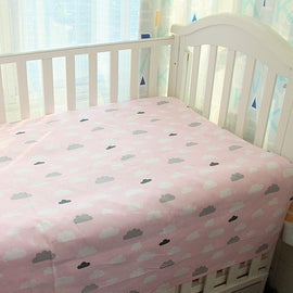 Pink Cotton Clouds Bed Sheet - Present Baby | clothes, rompers, bibs, shoes, blankets, dresses & more