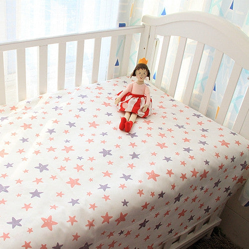 Starry Mountain Bed Sheet - Present Baby | clothes, rompers, bibs, shoes, blankets, dresses & more