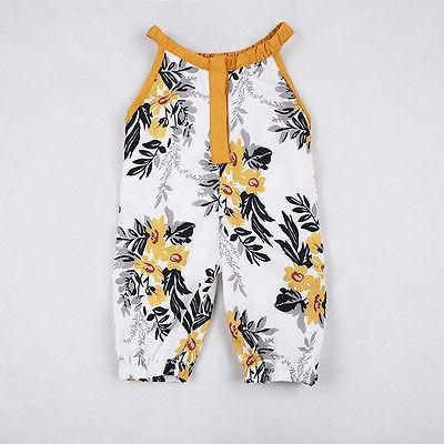 Floral Sleeveless Summer Jumpsuit Romper - Present Baby | clothes, rompers, bibs, shoes, blankets, dresses & more