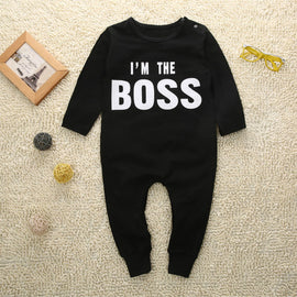 I'm The Boss Romper - Present Baby | clothes, rompers, bibs, shoes, blankets, dresses & more