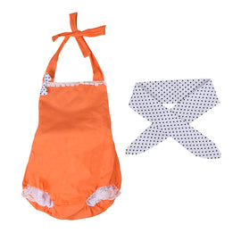 Orange Sunsuit Romper - Present Baby | clothes, rompers, bibs, shoes, blankets, dresses & more