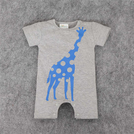 Happy Giraffe Romper - Present Baby | clothes, rompers, bibs, shoes, blankets, dresses & more
