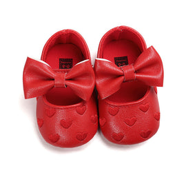 Glitter Hearts Leather Shoes - Present Baby | clothes, rompers, bibs, shoes, blankets, dresses & more