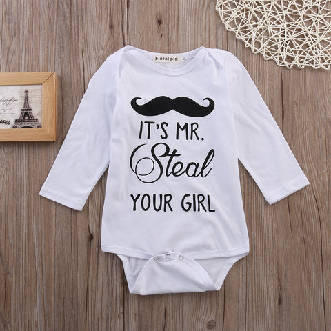 Mr. Steal Your Girl Romper - Present Baby | clothes, rompers, bibs, shoes, blankets, dresses & more