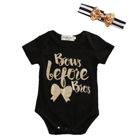 Bows Before Bros Romper - Present Baby | clothes, rompers, bibs, shoes, blankets, dresses & more