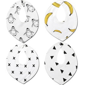 4 Pack - Gone Bananas Bib Set - Present Baby | clothes, rompers, bibs, shoes, blankets, dresses & more