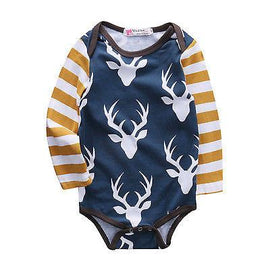 Deer Long Sleeve Romper - Present Baby | clothes, rompers, bibs, shoes, blankets, dresses & more