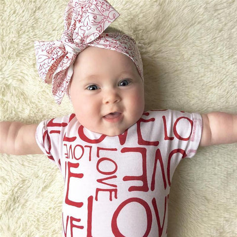 Alot of Love Girl Romper - Present Baby | clothes, rompers, bibs, shoes, blankets, dresses & more