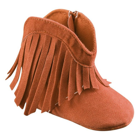 Cowboy Girl Booties - Present Baby | clothes, rompers, bibs, shoes, blankets, dresses & more