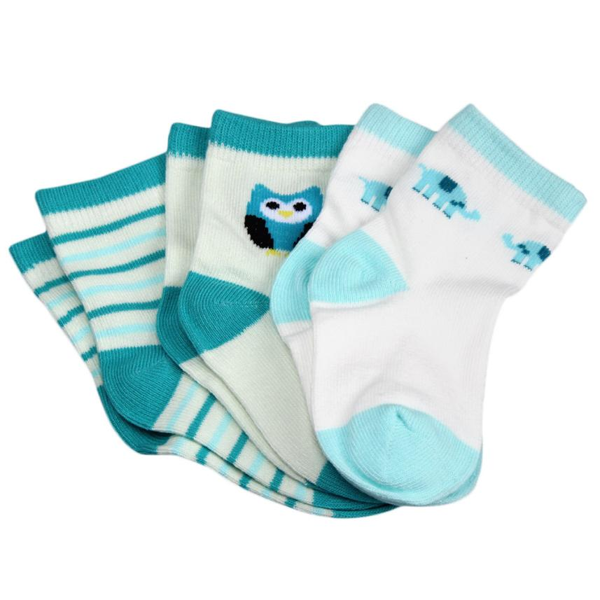 3 Pack - Ocean Green Socks Set - Present Baby | clothes, rompers, bibs, shoes, blankets, dresses & more