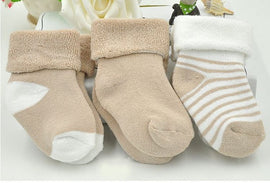 3 Pack - Basic Brown Boy Socks Set - Present Baby | clothes, rompers, bibs, shoes, blankets, dresses & more