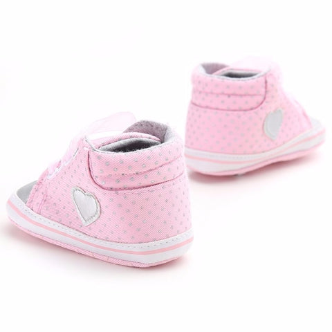Pink Love Polka Shoes - Present Baby | clothes, rompers, bibs, shoes, blankets, dresses & more