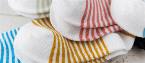 5 Pack - Basic Stripes Socks Set - Present Baby | clothes, rompers, bibs, shoes, blankets, dresses & more