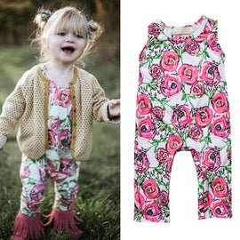 Floral Jumpsuit Romper - Present Baby | clothes, rompers, bibs, shoes, blankets, dresses & more