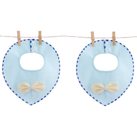 2 Pack Organic Bowtie Bib Set - Present Baby | clothes, rompers, bibs, shoes, blankets, dresses & more