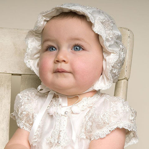 Baby Girl Christening Baptism White Gown Dress - Present Baby | clothes, rompers, bibs, shoes, blankets, dresses & more