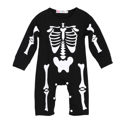 Skeleton Halloween Romper - Present Baby | clothes, rompers, bibs, shoes, blankets, dresses & more