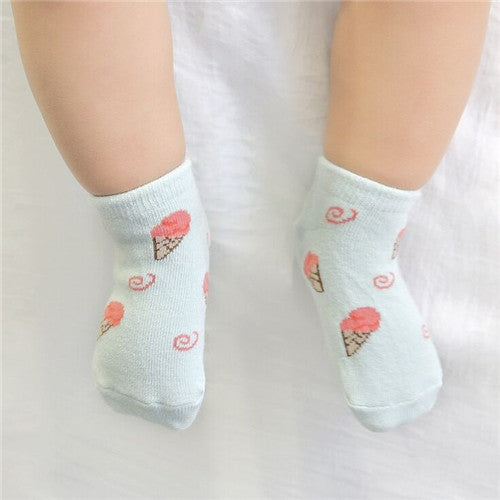 Ice Cream Wonderland Baby Socks - Present Baby | clothes, rompers, bibs, shoes, blankets, dresses & more