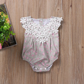 Rose Princess Lace Romper - Present Baby | clothes, rompers, bibs, shoes, blankets, dresses & more