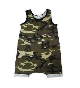 The Camo Playsuit Romper - Present Baby | clothes, rompers, bibs, shoes, blankets, dresses & more