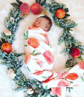 Peachy Swaddle Blanket - Present Baby | clothes, rompers, bibs, shoes, blankets, dresses & more