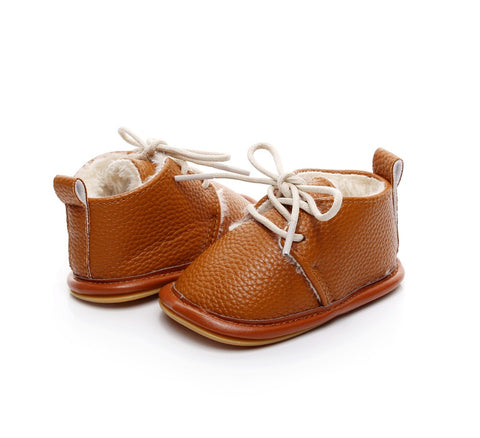 Timber Leather Winter Moccasin Shoes - Present Baby | clothes, rompers, bibs, shoes, blankets, dresses & more