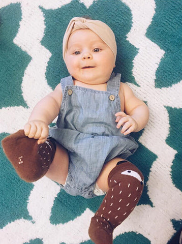 Denim Suspender Romper - Present Baby | clothes, rompers, bibs, shoes, blankets, dresses & more