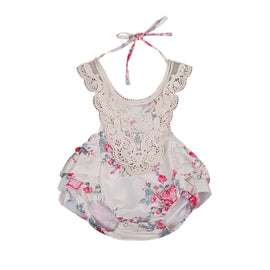 Flora Lacy Romper - Present Baby | clothes, rompers, bibs, shoes, blankets, dresses & more