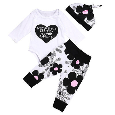 Newest Addition To The Family Romper Set - Present Baby | clothes, rompers, bibs, shoes, blankets, dresses & more