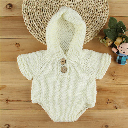 Newborn Crochet Knit Romper (0-6 Months Old) - Present Baby | clothes, rompers, bibs, shoes, blankets, dresses & more