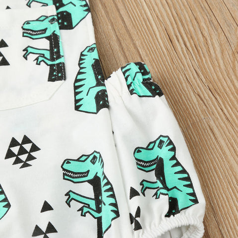 Dino Adventure Romper - Present Baby | clothes, rompers, bibs, shoes, blankets, dresses & more