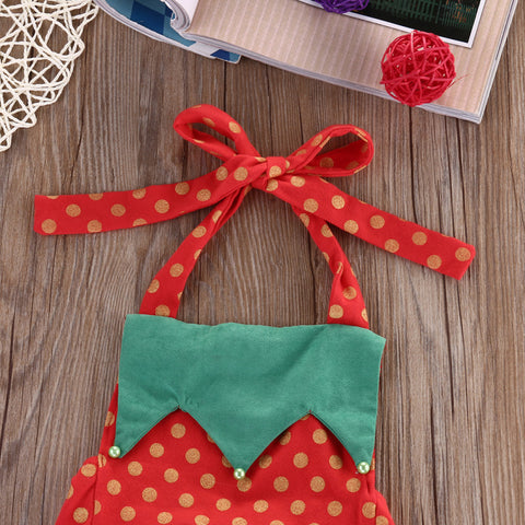 Christmas Polka Strawberry Romper - Present Baby | clothes, rompers, bibs, shoes, blankets, dresses & more