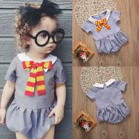 Smart Bow Romper - Present Baby | clothes, rompers, bibs, shoes, blankets, dresses & more
