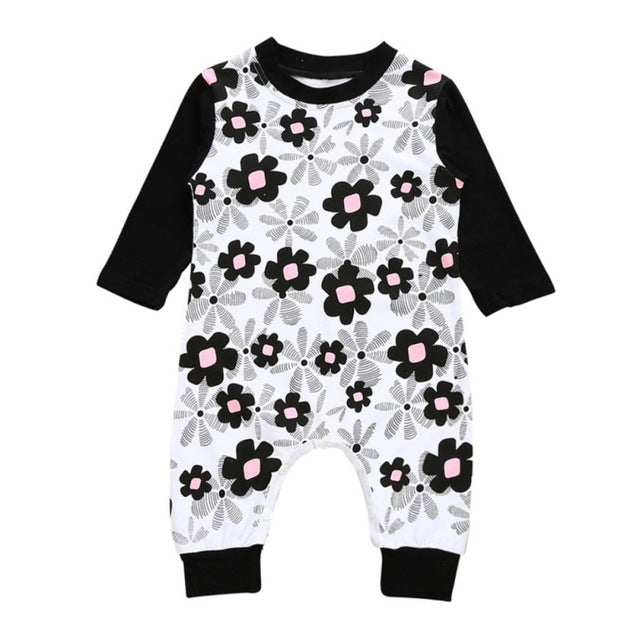 Funky Flower Romper - Present Baby | clothes, rompers, bibs, shoes, blankets, dresses & more