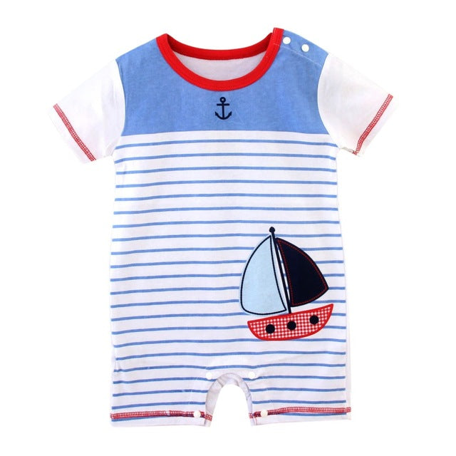 Sailor Boat Romper - Present Baby | clothes, rompers, bibs, shoes, blankets, dresses & more