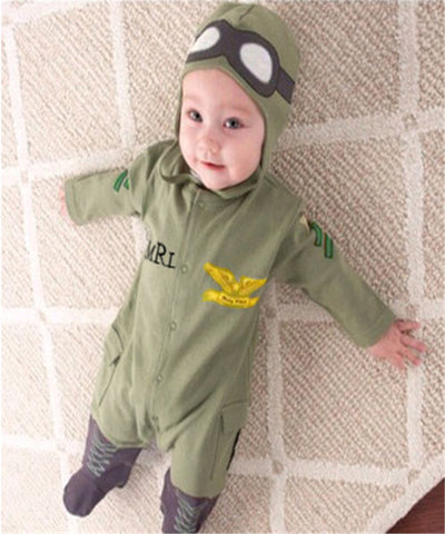 Aeroplane Pilot Romper - Present Baby | clothes, rompers, bibs, shoes, blankets, dresses & more