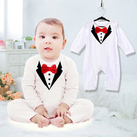 Gentleman Suit Formal Romper - Present Baby | clothes, rompers, bibs, shoes, blankets, dresses & more