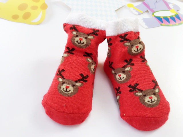 Red Deer Christmas Socks - Present Baby | clothes, rompers, bibs, shoes, blankets, dresses & more