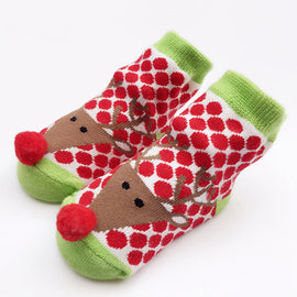 Jolly Rudolf Reindeer Christmas Socks - Present Baby | clothes, rompers, bibs, shoes, blankets, dresses & more