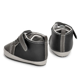 Black Basic Moccasin Shoes - Present Baby | clothes, rompers, bibs, shoes, blankets, dresses & more