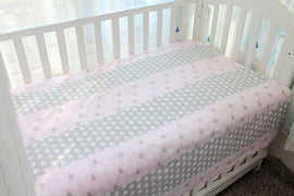 Pink Raindrops Bed Sheet - Present Baby | clothes, rompers, bibs, shoes, blankets, dresses & more
