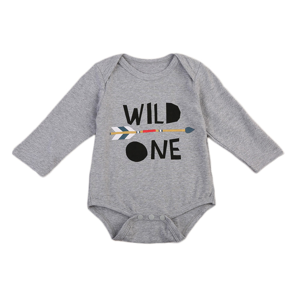 Wild One Romper - Present Baby | clothes, rompers, bibs, shoes, blankets, dresses & more