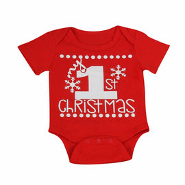 1st Christmas Romper - Present Baby | clothes, rompers, bibs, shoes, blankets, dresses & more