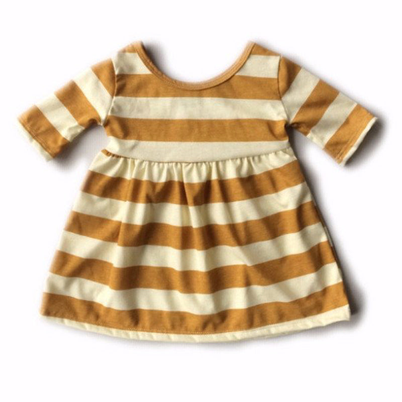 Stripey Yellow Summer Dress - Present Baby | clothes, rompers, bibs, shoes, blankets, dresses & more