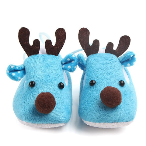 Reindeer Antler Fluff Shoes - Present Baby | clothes, rompers, bibs, shoes, blankets, dresses & more
