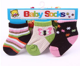 3 Pack - Happy Baby Sock Pink Set - Present Baby | clothes, rompers, bibs, shoes, blankets, dresses & more
