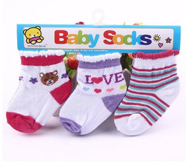 3 Pack - Happy Baby Socks Red Set - Present Baby | clothes, rompers, bibs, shoes, blankets, dresses & more