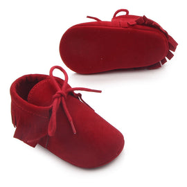 Suede Moccasin Baby Shoes - Present Baby | clothes, rompers, bibs, shoes, blankets, dresses & more