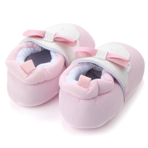 Pink Bowtie Walker Shoes - Present Baby | clothes, rompers, bibs, shoes, blankets, dresses & more